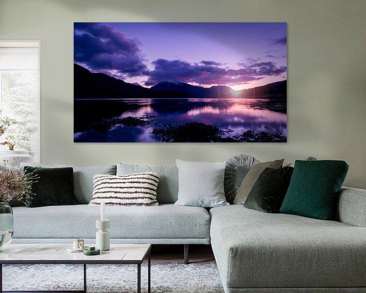 Beispiel: der Sonnenuntergang zwischen den Bergen im schottischen Hochland von Studio de Waay