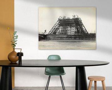 Bau des Eiffelturms 1889