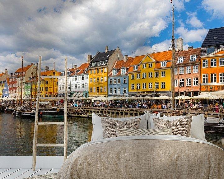 Sfeerimpressie behang: Nyhavn, Kopenhagen, Denemarken van Henk Meijer Photography