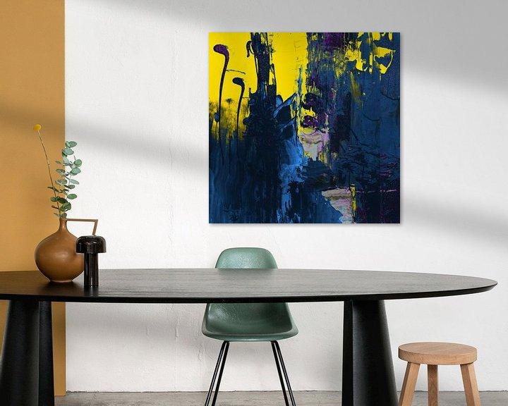 Sfeerimpressie: Abstract spel - Geel - 0100 van Felix von Altersheim