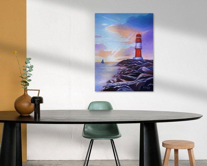 Beispiel: Sonnenaufgang am Leuchtturm Warnemünde von Marita Zacharias