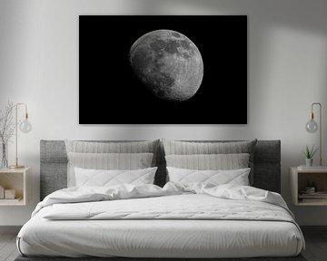 Moonscape Waxing Gibbous van Marc Hederik Fotografie
