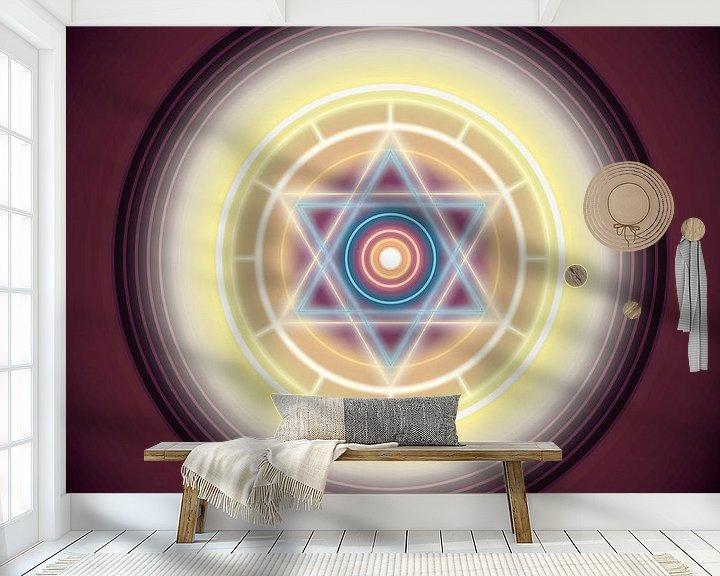 Beispiel fototapete: Sechszackiger Stern von Paul Evdokimov