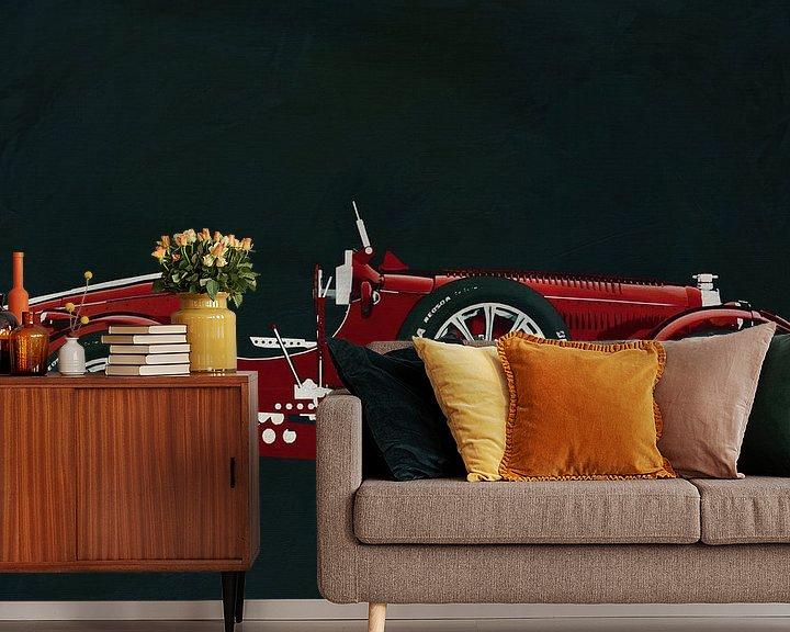 Sfeerimpressie behang: Bugatti Phoenix Concept Zijaanzicht van Jan Keteleer