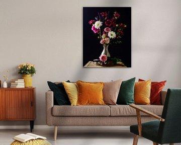 Stilleben eines Blumenstraußes von Wendy Tellier - Vastenhouw