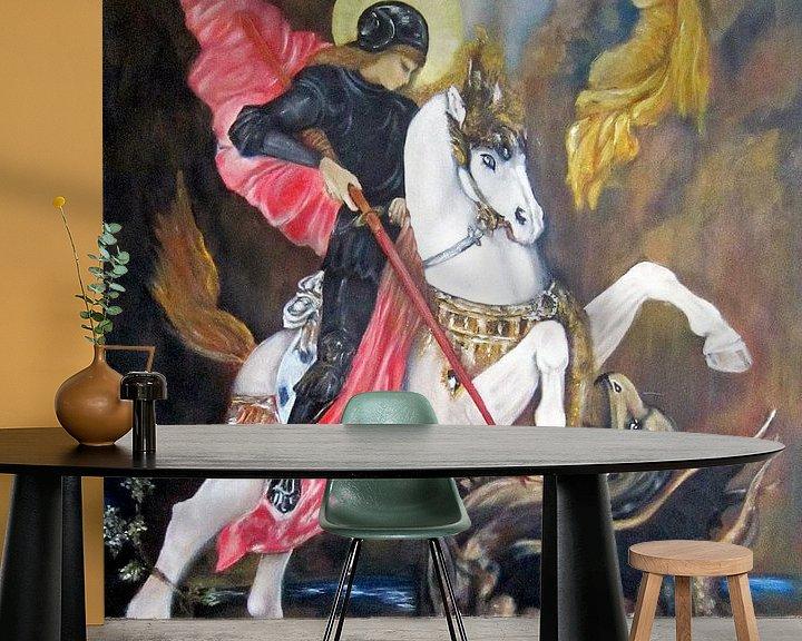Beispiel fototapete: Joris en de Draak von Sasha Butter-van Grootveld