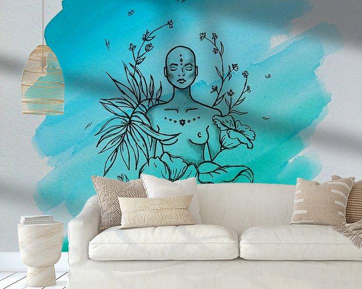 Beispiel fototapete: ZEN lll - Aquarell x Zeichnung von Claudia Maglio