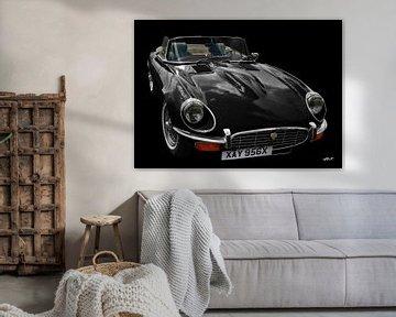Jaguar E-Type Série 3 Roadster en noir &amp ; noir sur aRi F. Huber