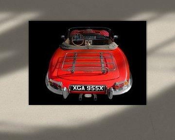 Jaguar E-Type Roadster Série I en couleur d'origine sur aRi F. Huber
