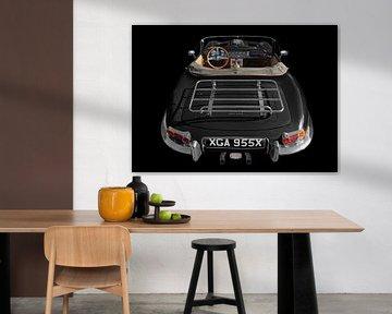 Jaguar E-Type Roadster Série I en noir et blanc sur aRi F. Huber