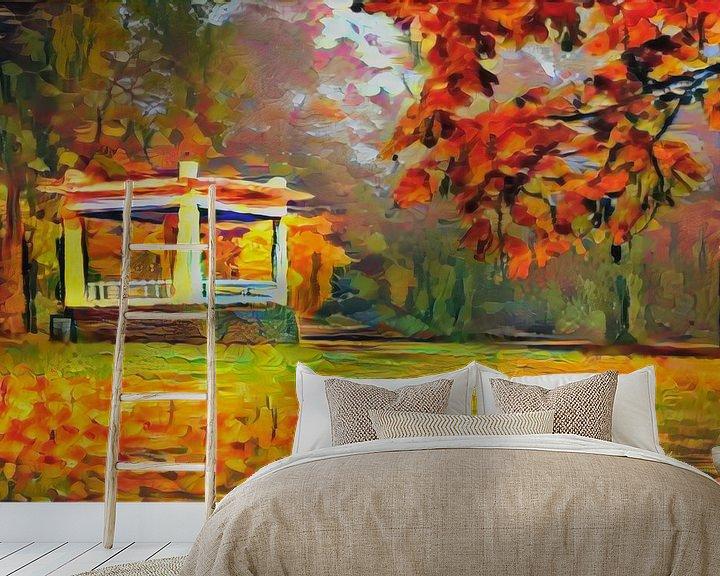 Beispiel fototapete: Herbst in Noorderplantsoen Groningen von Slimme Kunst.nl