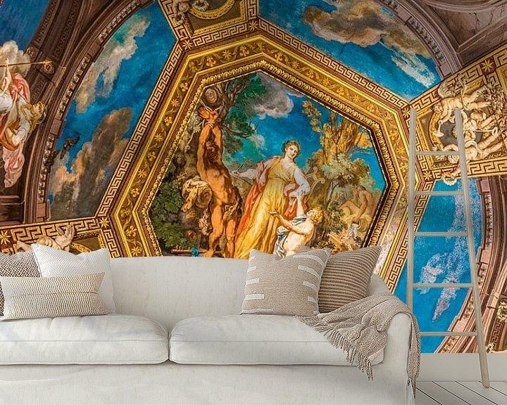 Beispiel fototapete: Gemälde an der Decke des Vatikanischen Museums in Rom von Lizanne van Spanje