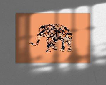 Waldelefant 2 von Catherine Fortin
