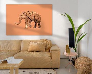 Waldelefant von Catherine Fortin