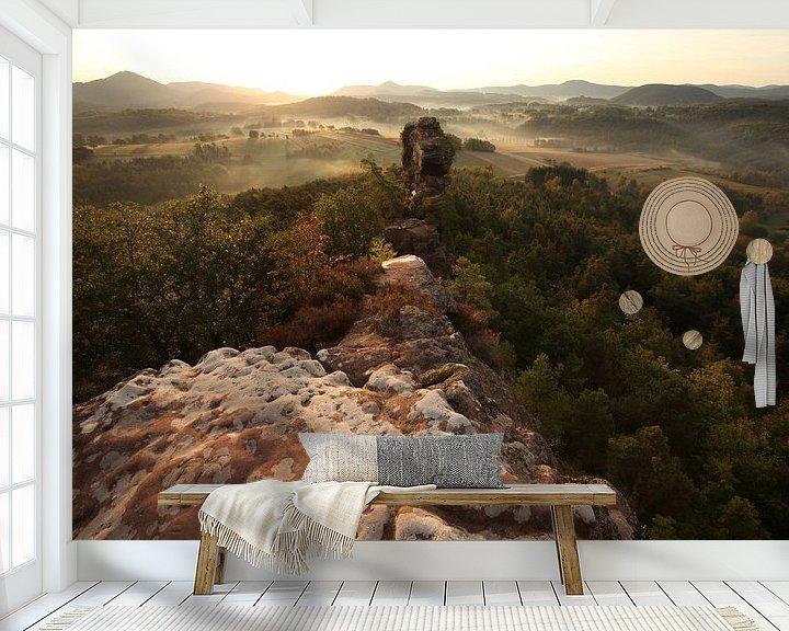 Beispiel fototapete: Geiersteine  im Pfälzer Wald von Jiri Viehmann