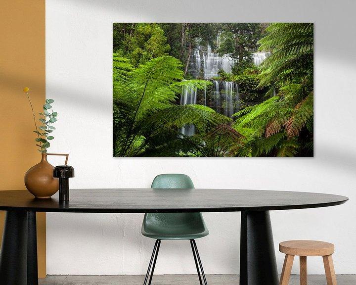 Beispiel: Schönster Wasserfall - Russell Falls - Tasmanien - Australien - Mount Field National Park von Jiri Viehmann