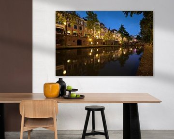 Oudegracht in Utrecht zwischen Zandbrug und Jacobi Brücke von Donker Utrecht