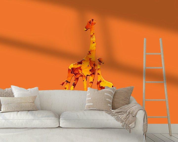 Beispiel fototapete: Girafolios von Catherine Fortin
