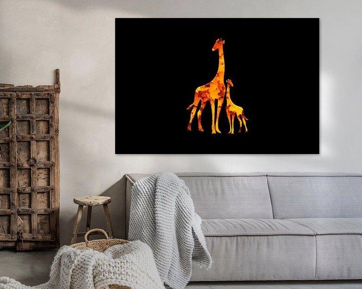 Beispiel: Giraffe2 von Catherine Fortin