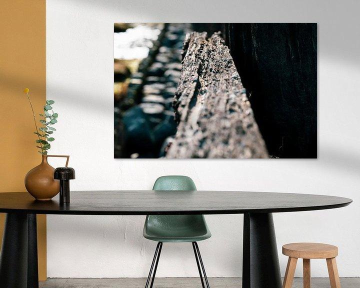 Sfeerimpressie: Verweerde oude zeewering van Fotografiecor .nl