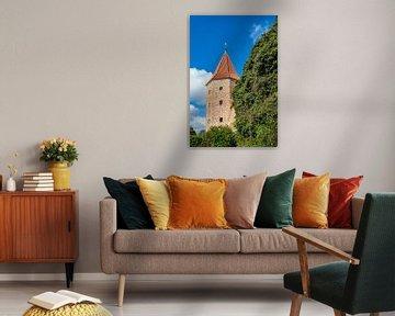 Blick auf Lagebuschturm in der Hansestadt Rostock von Rico Ködder