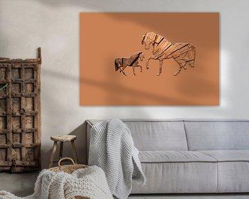 Hölzerne Pferde von Catherine Fortin