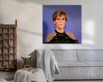 Jane Fonda Schilderij van Paul Meijering