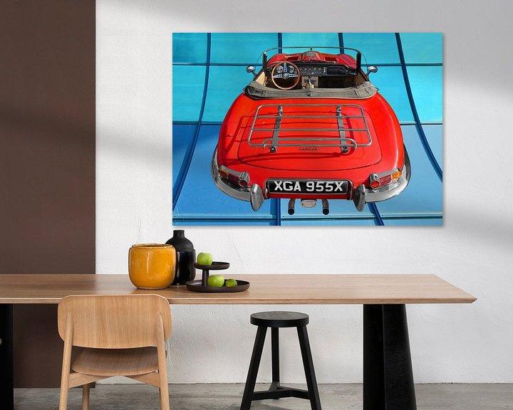 Beispiel: Jaguar E-Type Series 1 Roadster in Originalfarbe von aRi F. Huber