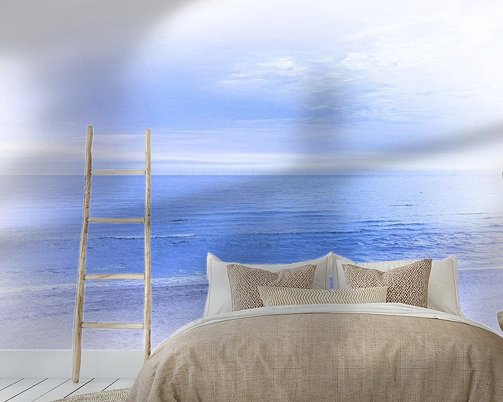 Sfeerimpressie behang: Strandwandeling van Erik Reijnders