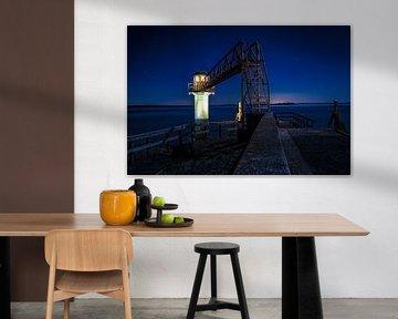 Leuchtturm auf dem Lauwersmeer von Fotografiecor .nl