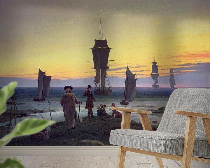 Beispiel fototapete: Die Lebensstufen, Caspar David Friedrich
