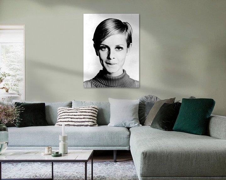 Sfeerimpressie: Het model Twiggy, 1966  (gezien bij vtwonen) van Bridgeman Images