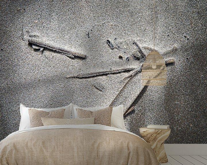 Sfeerimpressie behang: aangespoeld aan het strand van Ed Dorrestein