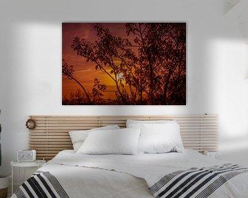Abendroter Himmel Horizont von Frank Ketelaar