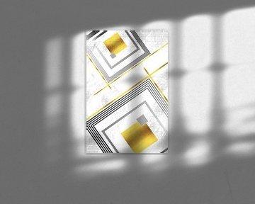 Geometric Art No. 6 gold von Melanie Viola