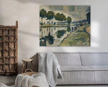 Fluvius Scheldt bei Avelgem-Scheldemeersen von Nop Briex