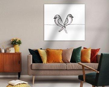 Zwei kleine Vögel von Bianca Wisseloo
