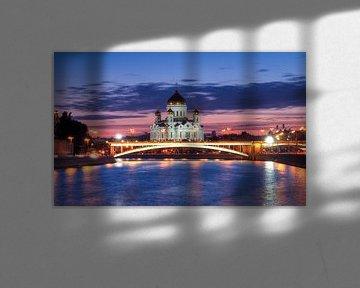 Moskau und die Christ-Erlöser-Kathedrale