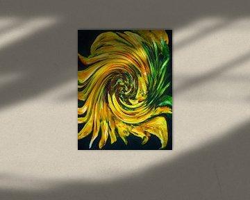 Zonnebloem van Ineke de Rijk