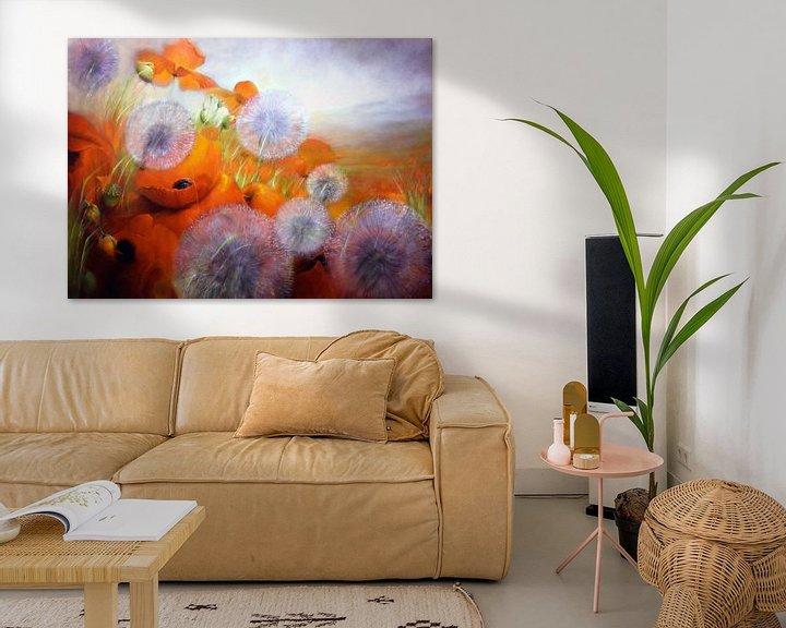 Beispiel: Mohnblumenwiese mit Pusteblumen von Annette Schmucker