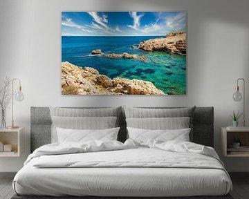Baai op het eiland Mallorca bij Cala Ratjada van PhotoArt Thomas Klee