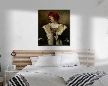 Bildnis eines Mannes mit roter Mütze, Titiaan