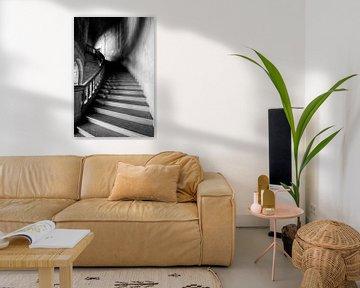 Klostertreppe, alte Treppe. Stairway to Heaven. von Gert Hilbink