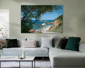 Grieks strand van Miranda van Hulst