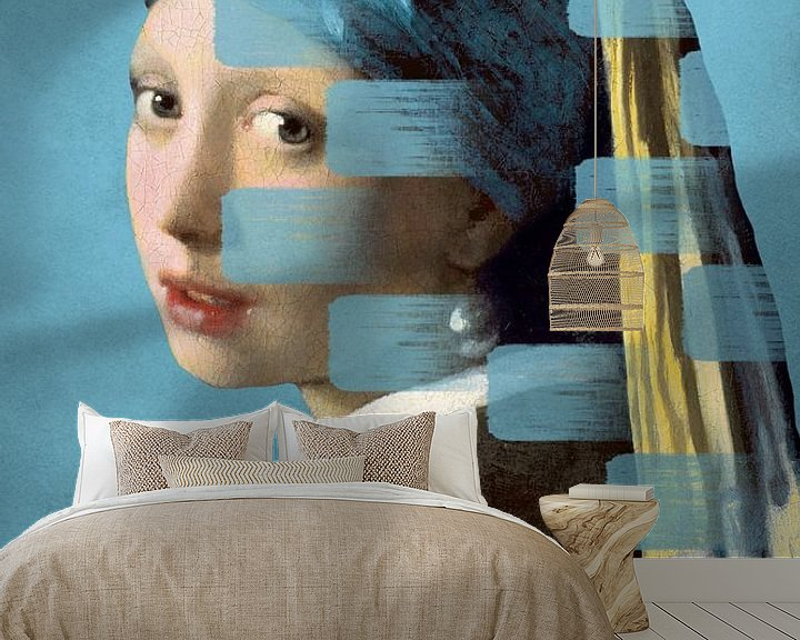 Impression: Girl with the Pearl Earring - The Wipe Out Edition sur Marja van den Hurk