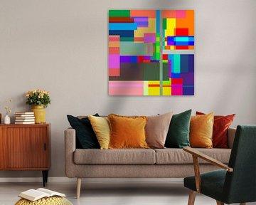 Kleurrijke vlakken kunst van Nicole Habets
