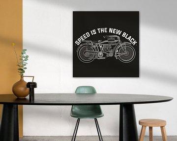 Speed is the new black, Oldtimer-Motorrad von Atelier Liesjes