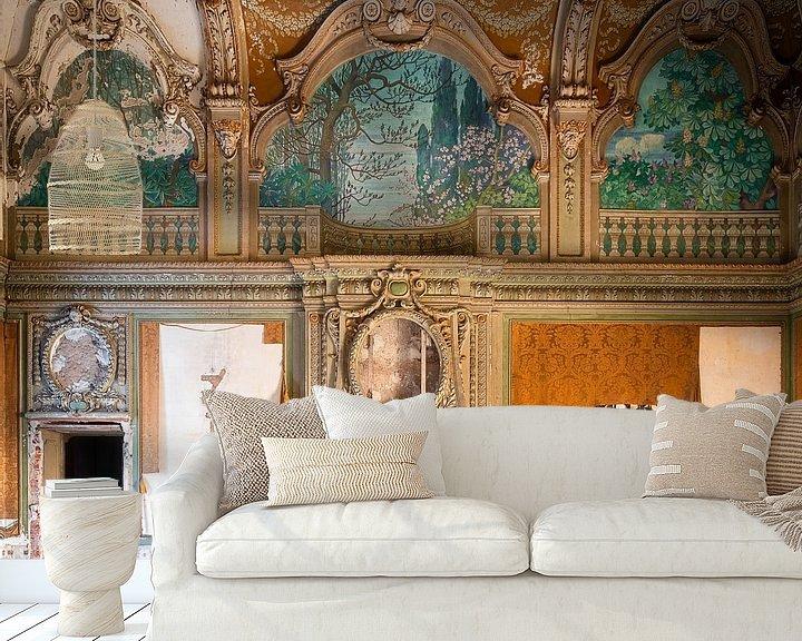 Beispiel fototapete: Verlassene Villa mit Kamin. von Roman Robroek