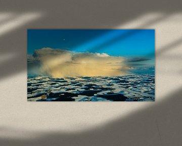 Luchtfoto van een onweersbui van Denis Feiner