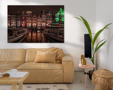 Damrak in Amsterdam van Mike Bot PhotographS